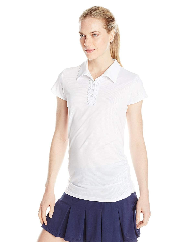 Women's Renee Polo Shirt - White - CG11MCHVHMB - Sports & Fitness Clothing, Women, Shirts, Polo Shir...