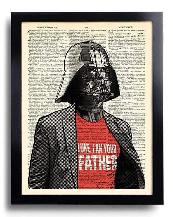 d642b544 Star Wars Darth Vader I am your Father Quote Star Wars art print Dictionary  book page