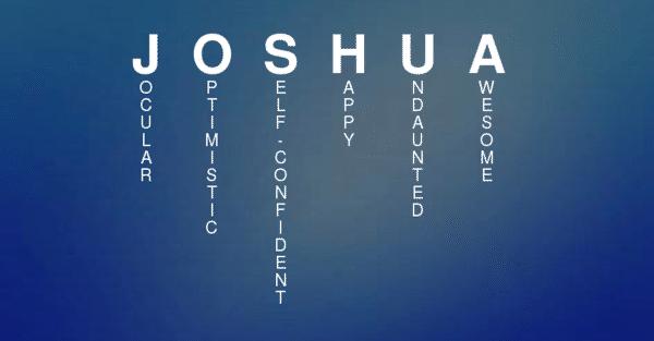 Meaning Of The Name Joshua Joshua My Children Quotes Joshua Name