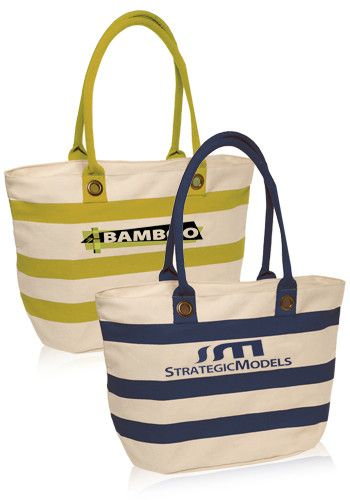 striped sailor personalized canvas tote bags cheap design logo
