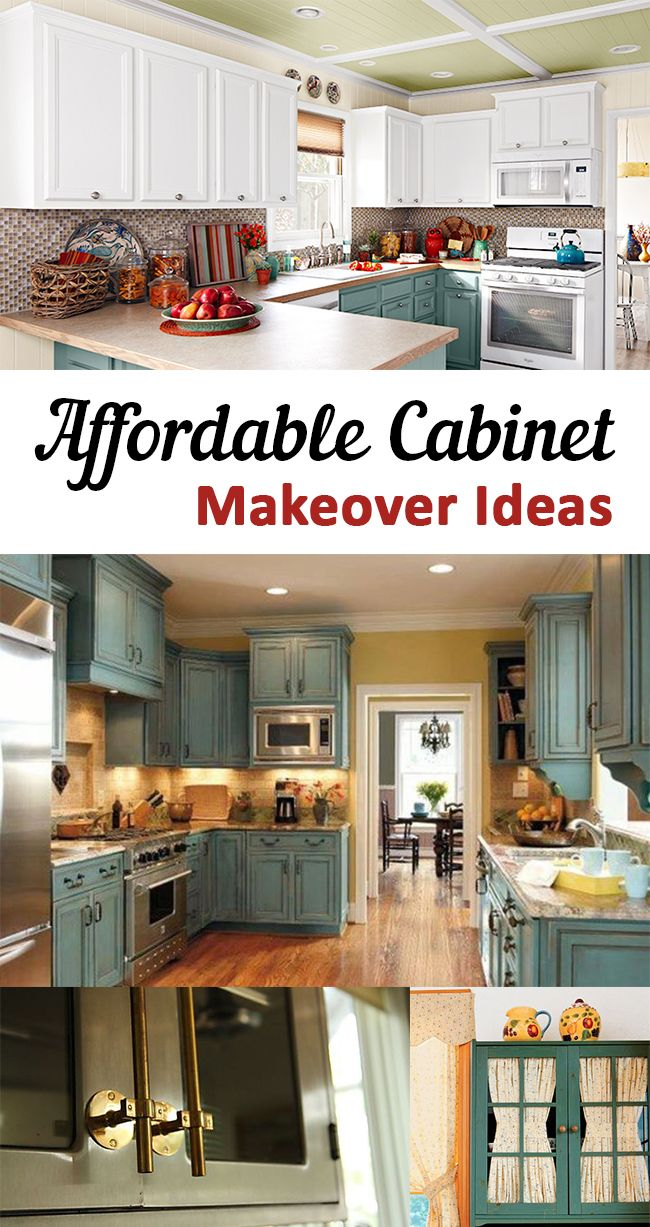 Affordable cabinet makeover ideas cabinets diy home and for Inexpensive kitchen renovations