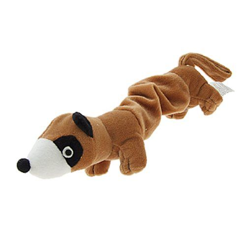 New Dogpuppy Plush Toy Squeaky Otter Dog Toy Brown You Can