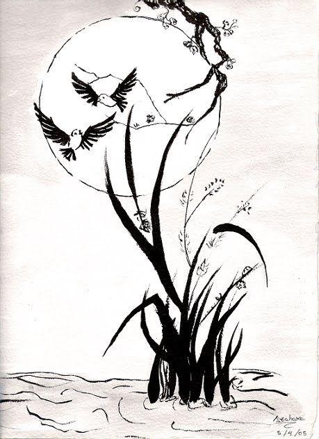 Flores En Tinta China Buscar Con Google Moose Art Art Abstract Artwork