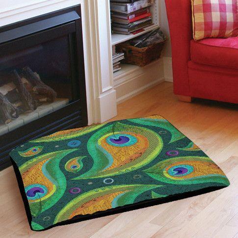 Peacock Pattern 9 Indoor/Outdoor Pet Bed