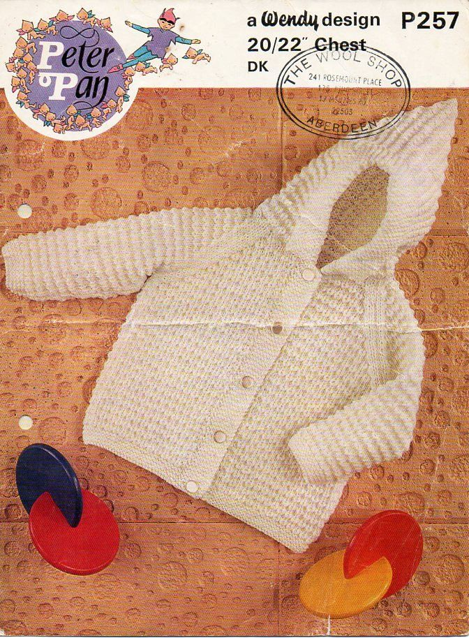 baby hooded jacket knitting pattern pdf DK baby cardigan ...