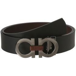 Salvatore Ferragamo - Adjustable/Reversible Belt (Nero/Auburn) - Apparel - product - Product Review