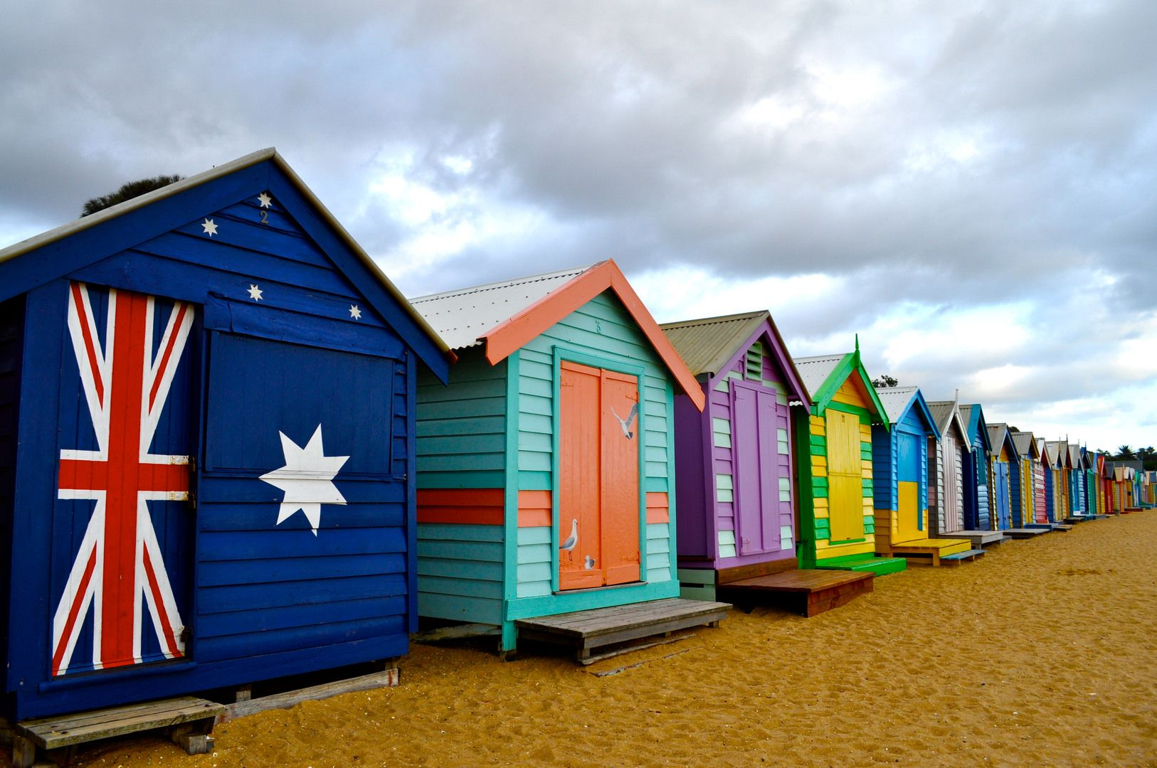 Beach Hut By Mattie Weber In Australia So Colorful And Cheerful