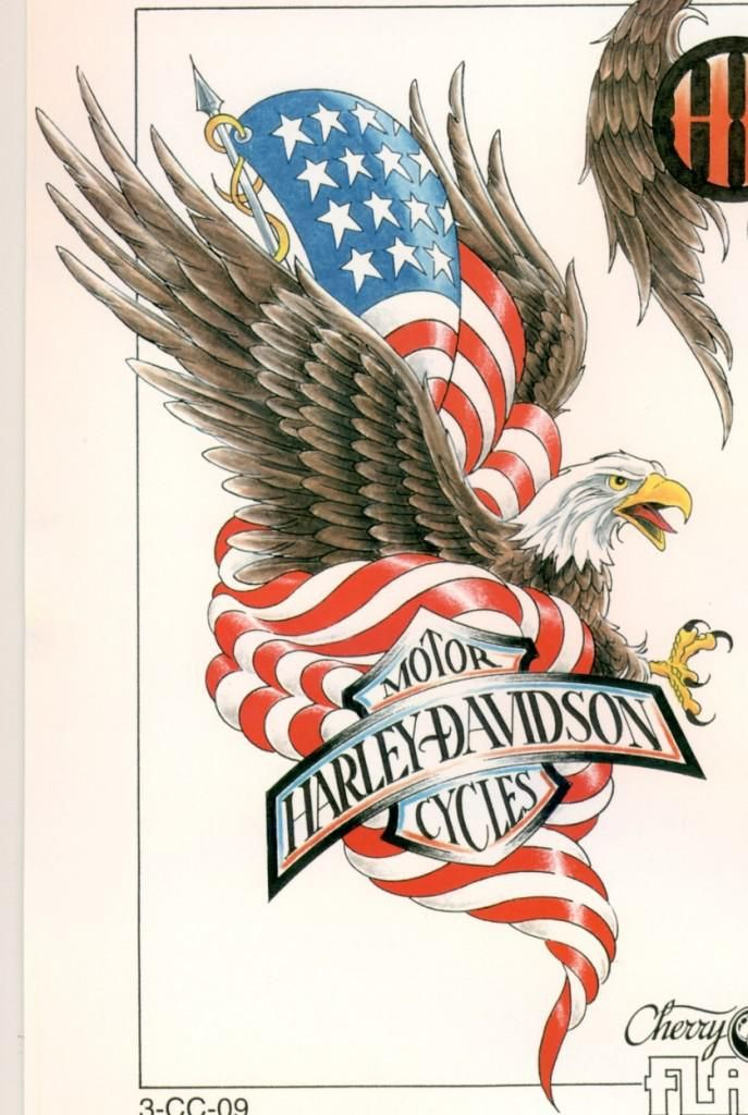 American eagle harley davidson tattoo with blueprint harley american eagle harley davidson tattoo with blueprint malvernweather Gallery