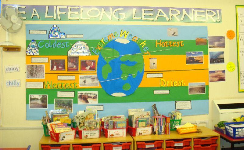 weather around the world classroom display photo