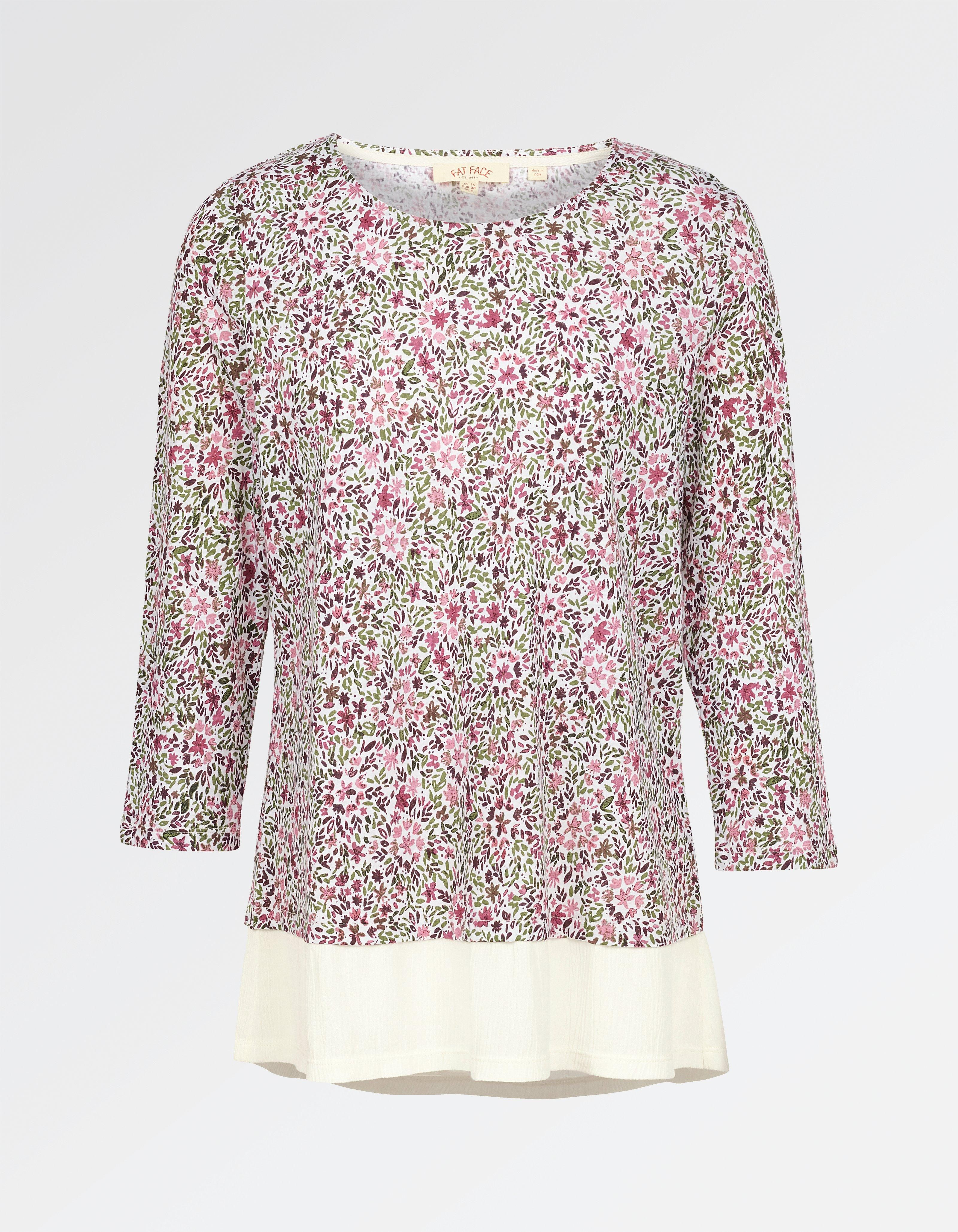 Fat Face Women's Maya Brushed Floral T-Shirt Low Price Fee Shipping For Sale New Arrival Fashion Countdown Package Cheap Online Classic Outlet Shop Offer hpfSD