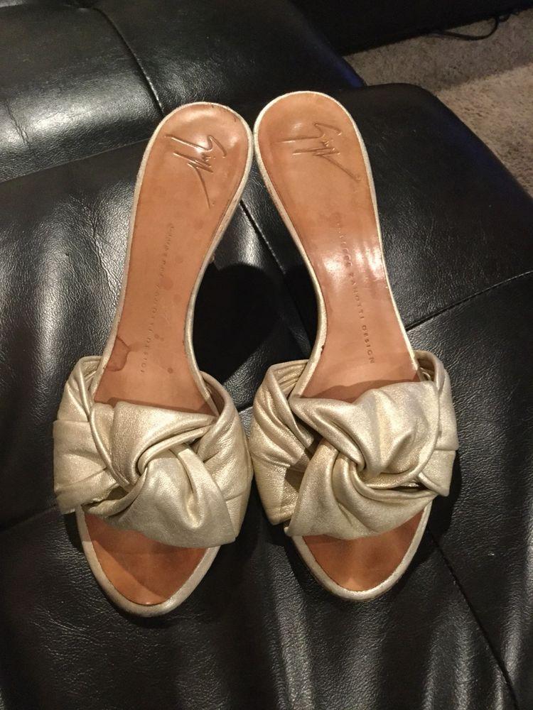 f24014d0881da Giuseppe Zanotti Shoes Leather Slip On Clogs Heels Womens 36 1/2 / 6 ...