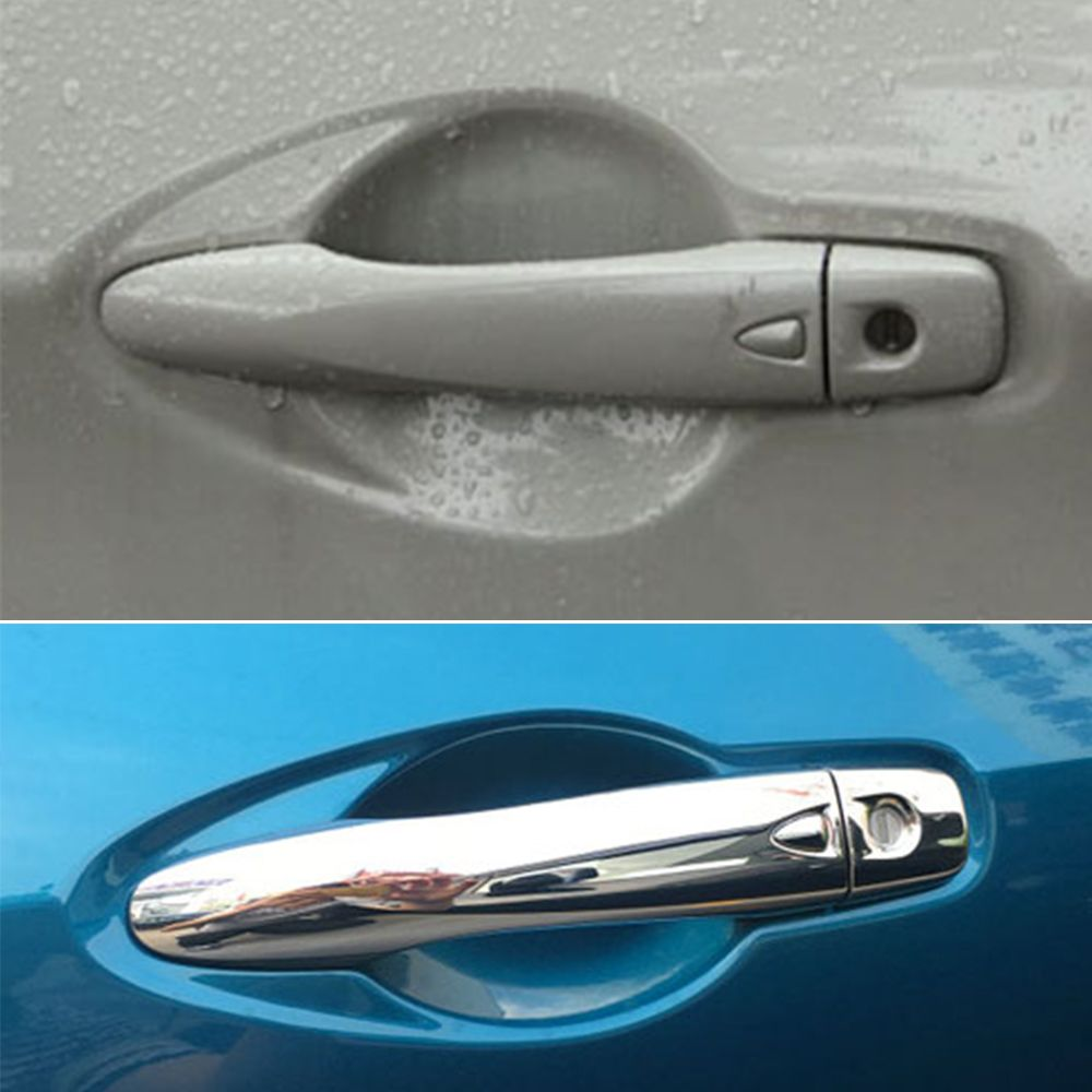 High Quality New Chrome Car Side Door Handle Cover Trim With Smart Keyhole For Nissan Qashqai J11 2015 2016 8pcs Car Styl Chrome Cars New Chrome Nissan Qashqai