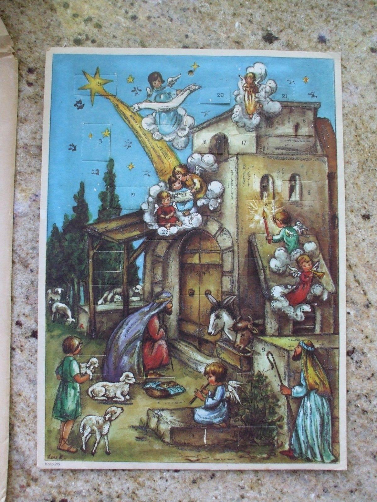 Haco German German Advent Calendar Nativity Scene Love Advent Calendar