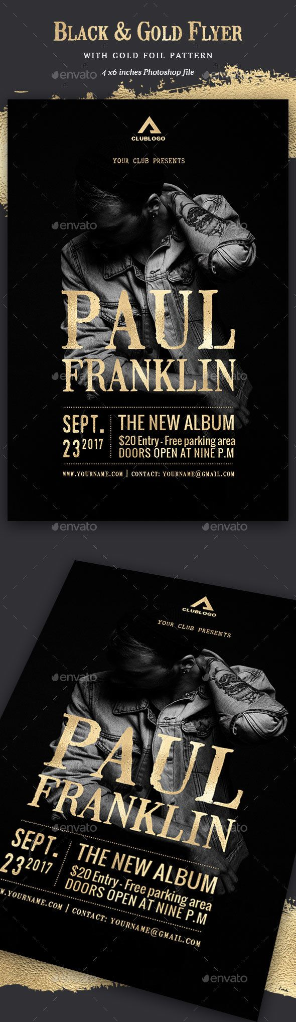 Gold  Black Flyer  Event Flyers Flyer Template And Concert Flyer