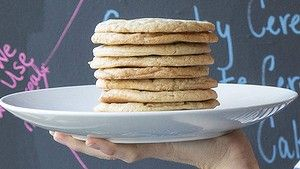 A stack of Christina Tosi's whisky maple cookies for the Singleton Whisky and Sugar Bar.