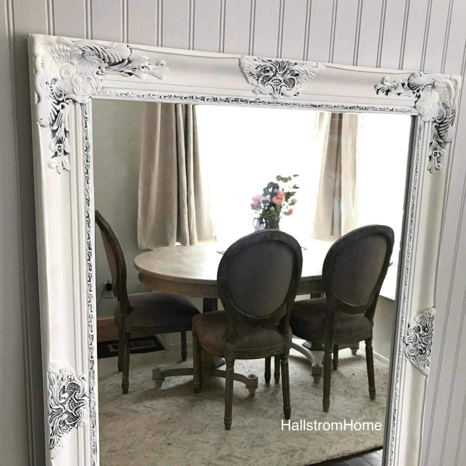 image 0 Farmhouse vanity, Shabby chic mirror, Shabby