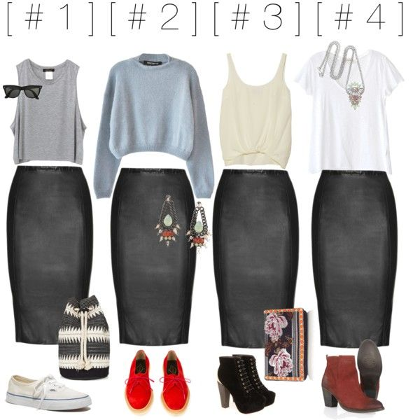 leather pencil skirt ]