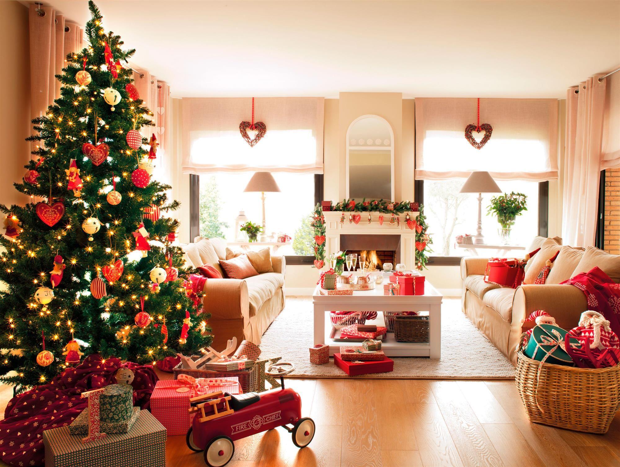 Salón decorado por Navidad_00328428 | Para navidad, Salón y Navidad