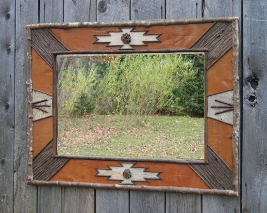 rustic mirror rustic frames birch bark mirrors