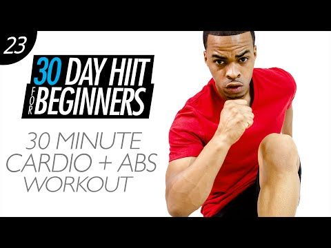 30 Min. Cardio Abs Sweat Home Workout for Beginners | Beginner HIIT #23 - YouTube