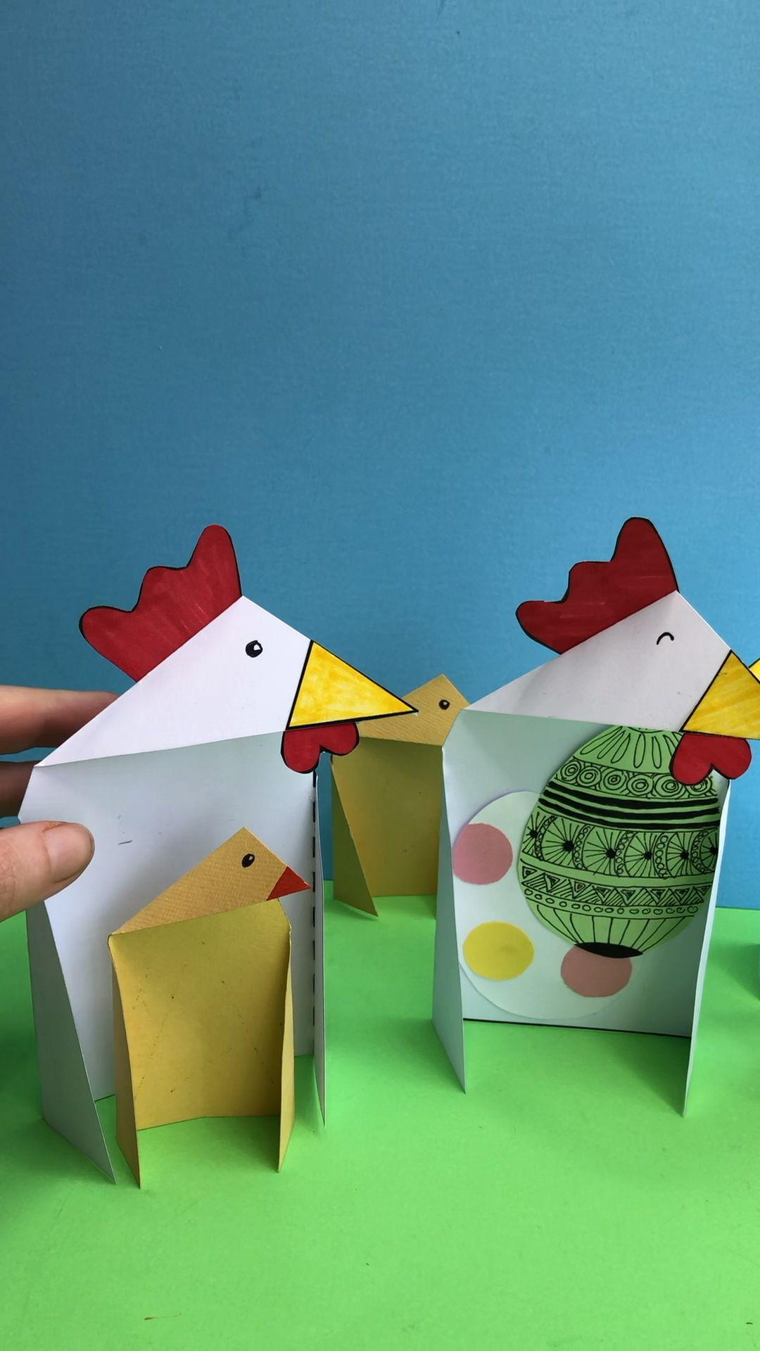 Triangle Paper Craft Chicken Amp Chick