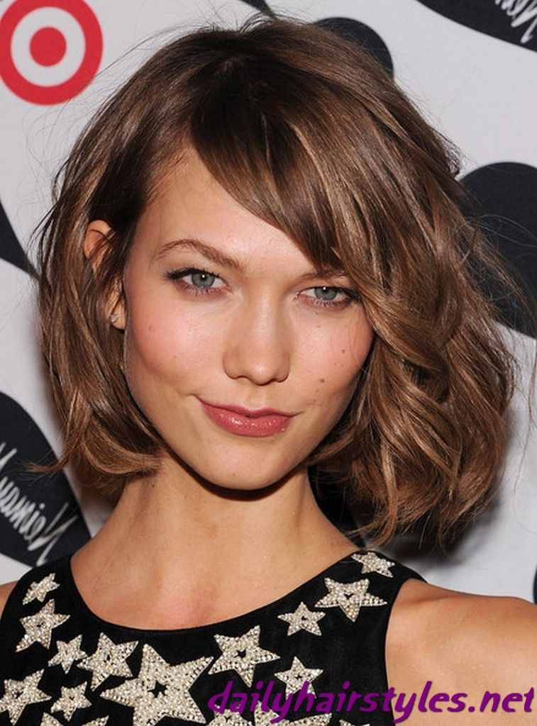 haircuts for faces hair karlie kloss bob hairstyle 2013 fashion amp 4430