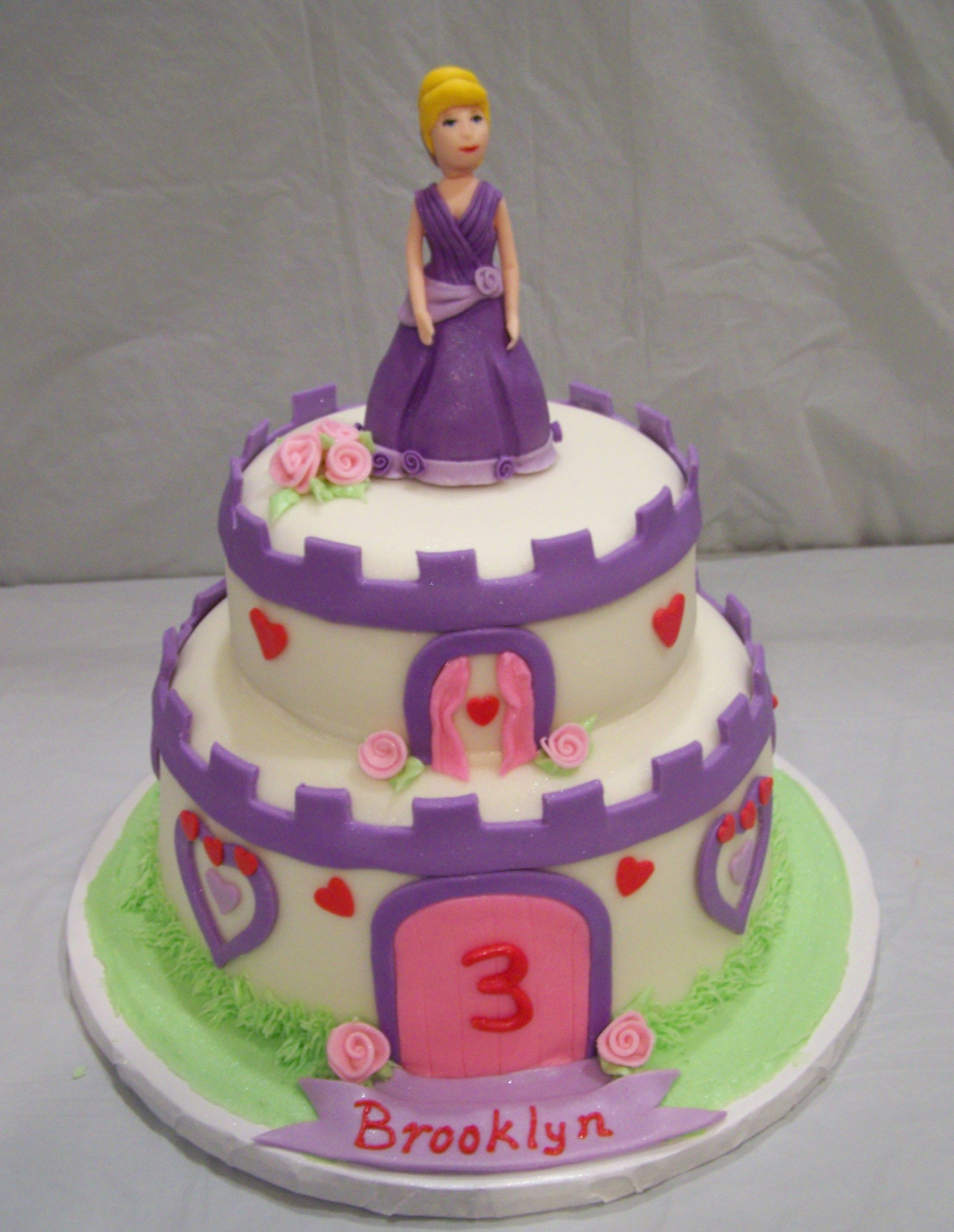Cinderella princess cake with edible fondant figure cakes Ive