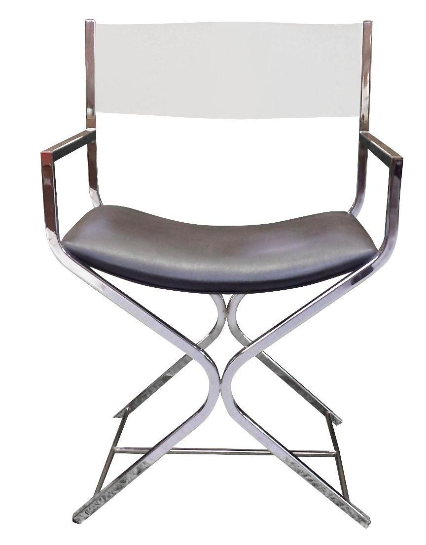 Midcentury lucite back directors chair on chairish cake smith