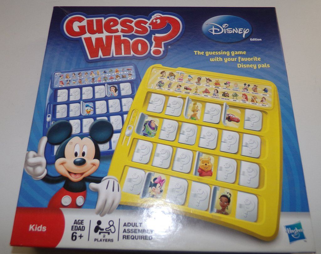 Disney edition guess who game disney party games disney