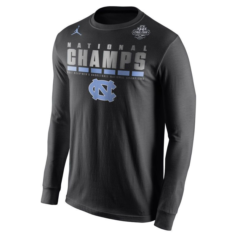 78c1cf3f5046ab North Carolina Tar Heels Brand Jordan 2017 NCAA Men s Basketball National  Champions Celebration Long Sleeve T-Shirt - Black