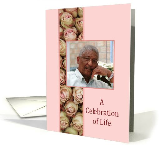 Celebration Of Life Funeral\/Memorial Service   Pink Roses Photo    Celebration Of Life  Celebration Of Life Templates