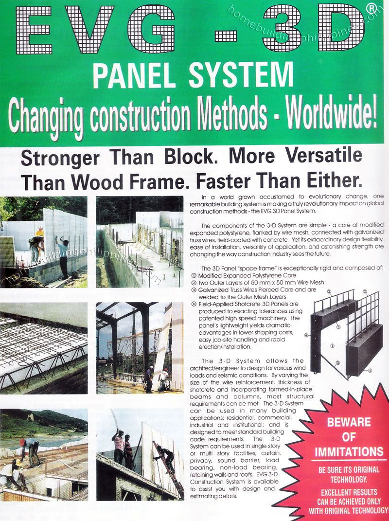 Evg 3d Panel System Construction Materials Suppliers Philippines Electrical Wiring Wire Mesh Building