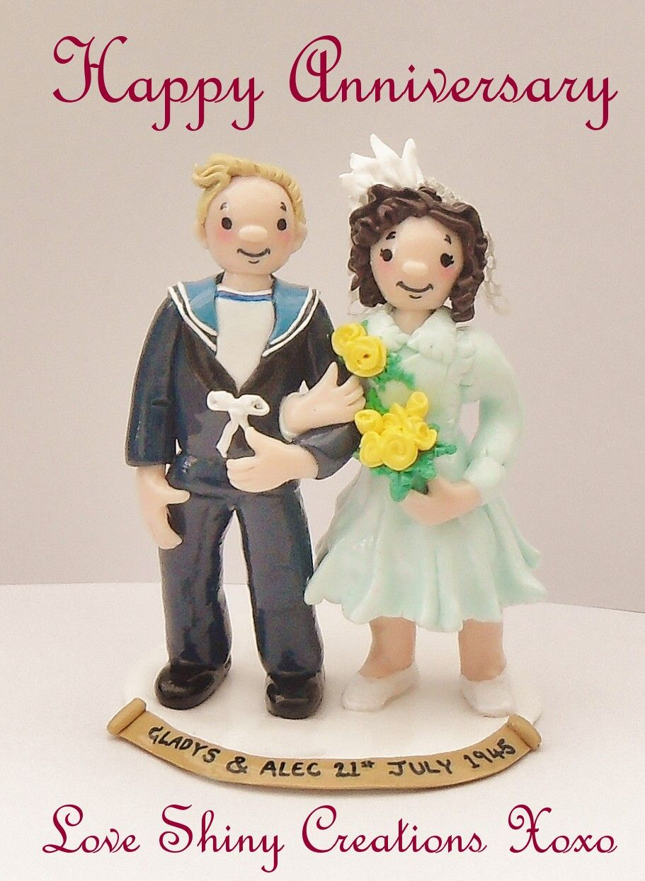 Gladys and Alec's 70th wedding Anniversary Caketopper 2015