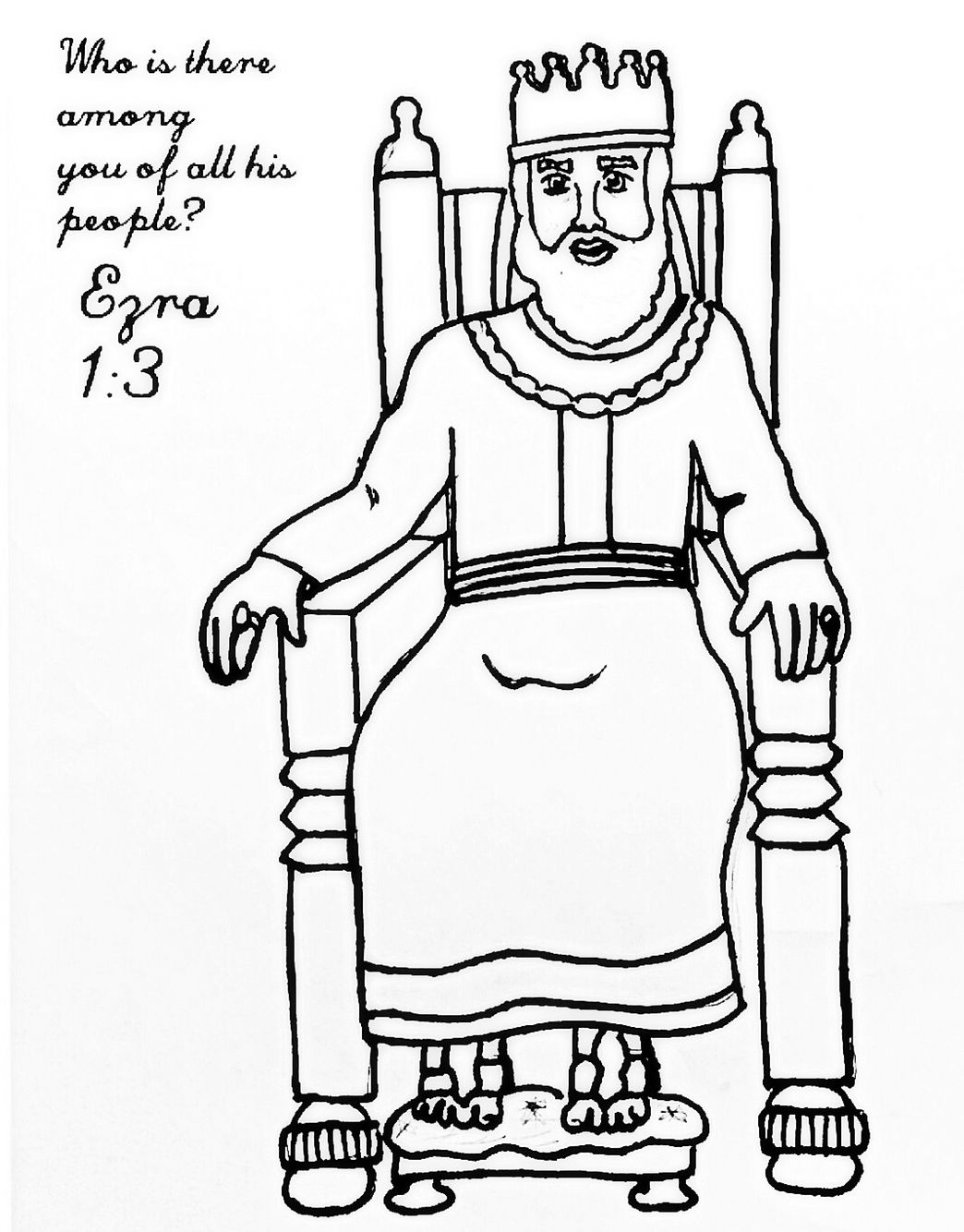Ezra Chapter 17 Coloring Page  Coloring pages, Chapter, Color