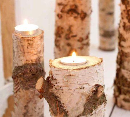 Bastelanleitung teelichthalter aus birkenholz wohnen garten hochzeits inspiration - Deko aus birkenholz ...