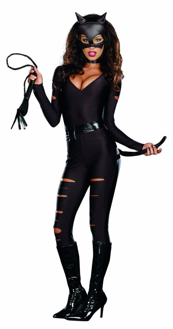 Be a pet in this black cat costume with kitty leotard and mask ...