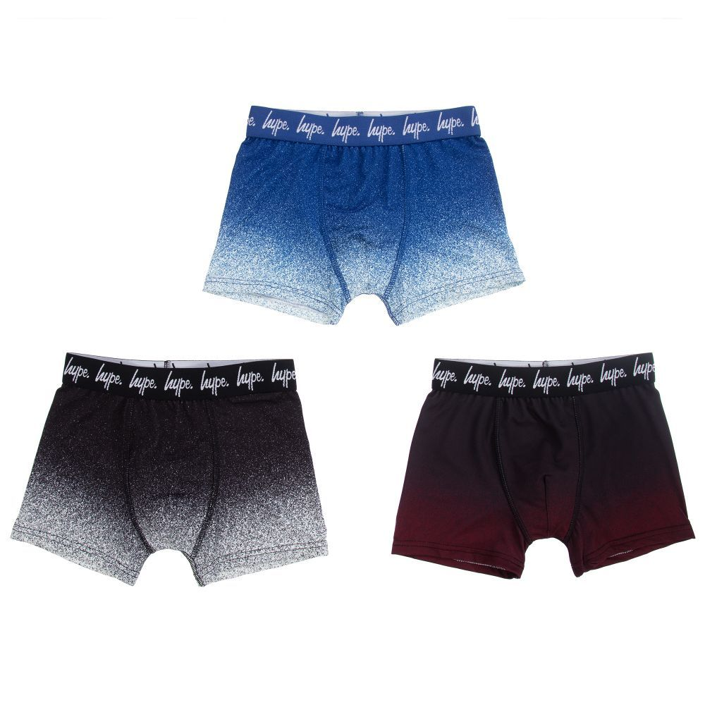d3b78dc19d Three pairs of jersey boxer shorts by Hype Kids, with black, blue ...