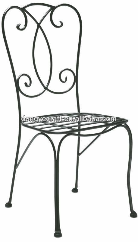 Patio Wrought Solid Iron Chair Yc000816 Com Imagens Cadeiras