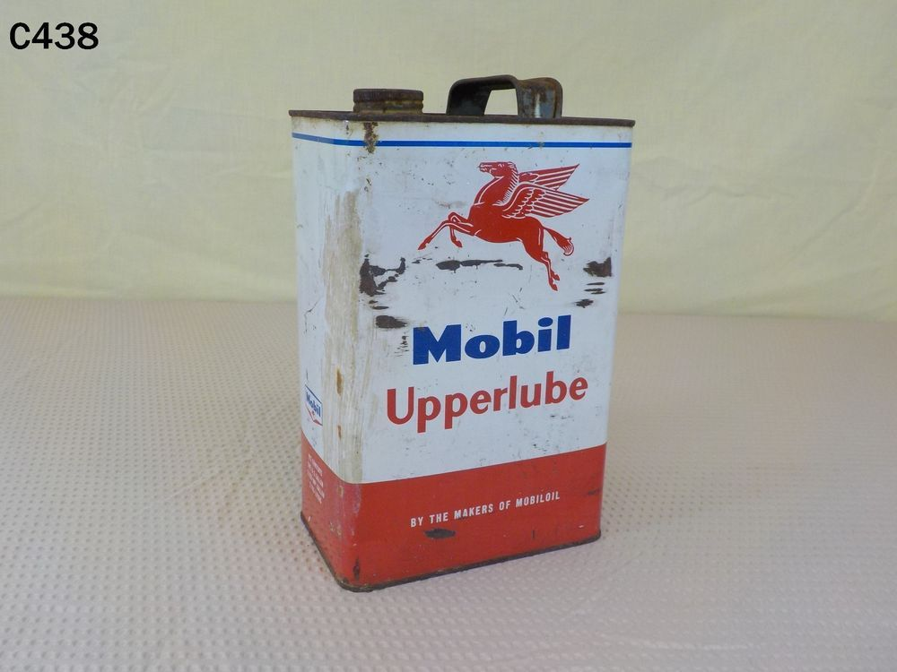 Vintage Mobil Oil Can Gas Upperlube Socony Vacuum Pegasus Flying Red Horse Rare Mobil Standard Oil Lube Gas