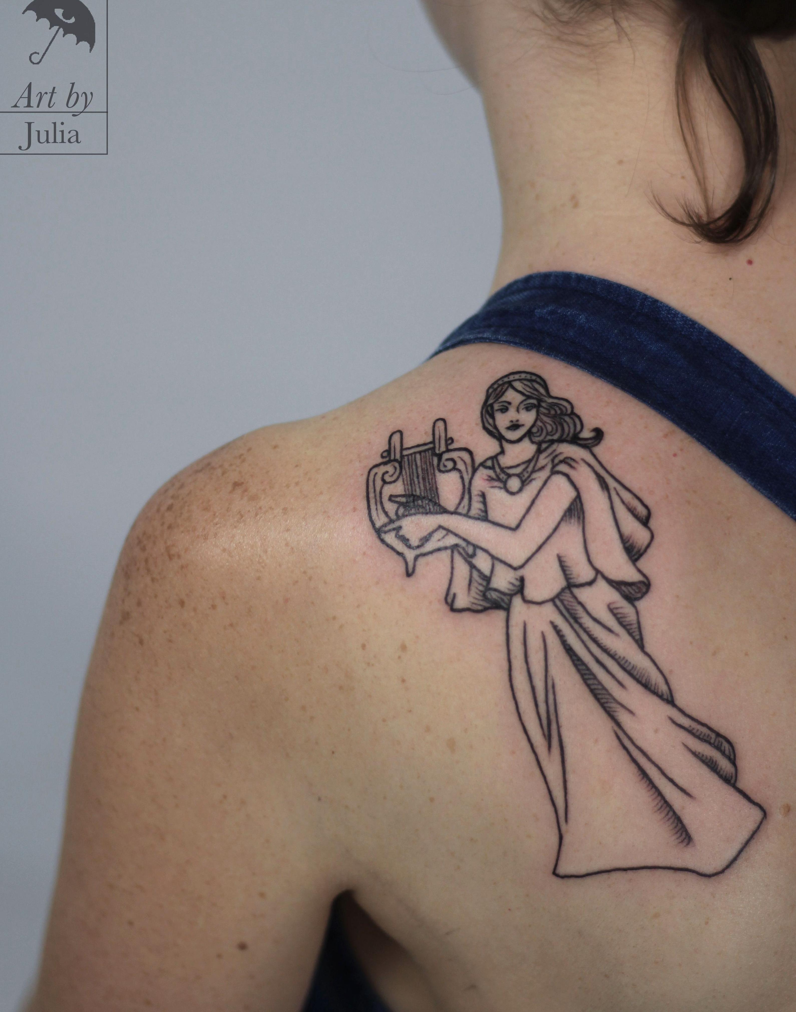 Muse Muse Tattoo Feminine Feminine Tattoo Feminism Feminism Tattoo Feminist Feminist Tattoo Line Linework Line In 2020 Feminist Tattoo Feminism Tattoo Feminine Tattoos
