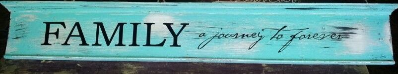 Another sign from 100 year old wood!  www.dumpster-diva.mimi.blogspot.com