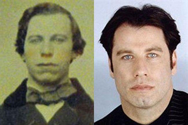 45 People From History Who Look Exactly Like Today S Celebrities John Travolta Celebrities Celebrity Look Alike