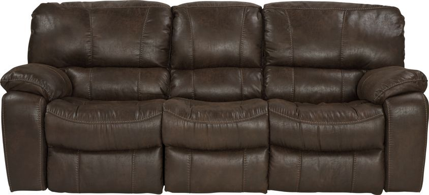 Cindy Crawford Home Alpen Ridge Brown Reclining Glider Console Loveseat Rooms To Go Reclining Sofa Couches For Sale Cindy Crawford Home