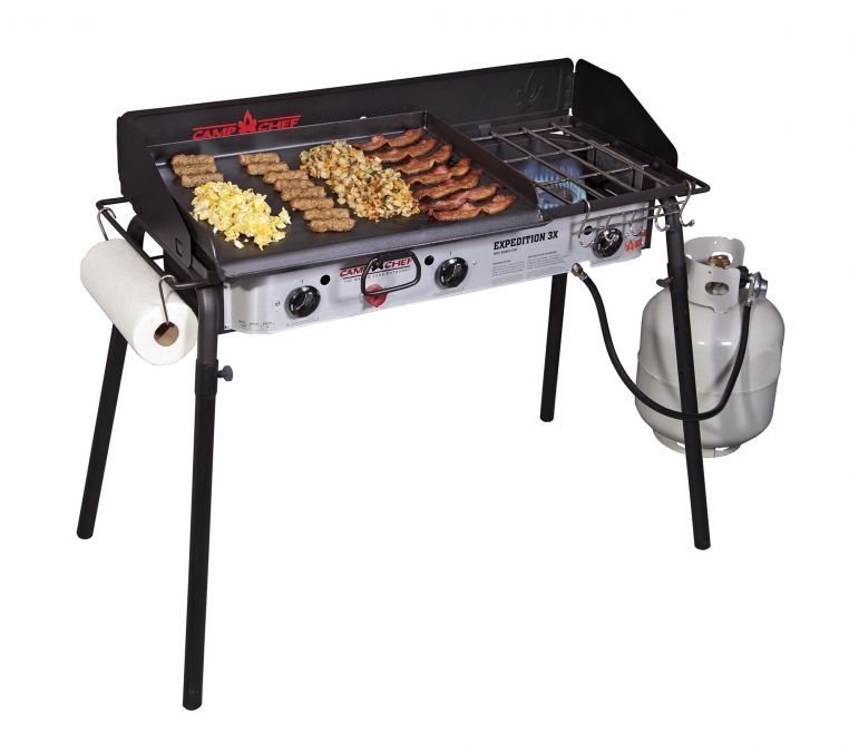 Expedition 3x Triple Burner Stove With Griddle Camp Chef Burner Stove Stove With Griddle Camping Stove