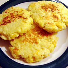 Potato Pancakes II Recipe Breakfast and Brunch, Side Dishes with mashed potatoes, eggs, salt, shredded cheddar cheese, butter