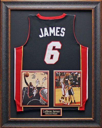 newest collection 0f035 e8c04 Lebron James Autographed and Framed in Black | eBay | Sports ...