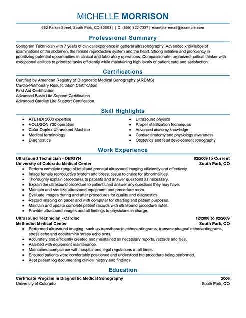Resume Examples Me Nbspthis Website Is For Sale Nbspresume Examples Resources And Information Ultrasound Technician Medical Resume Resume Examples