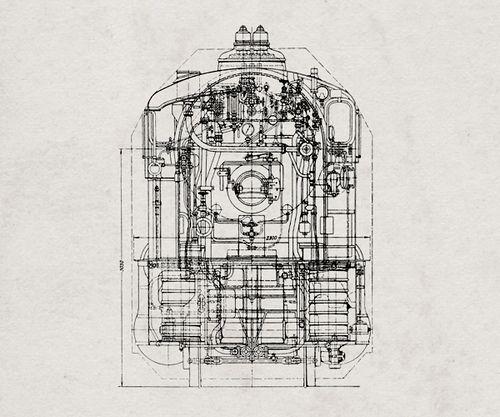 Train Illustration Technical Illustration Train Illustration Technical Drawing