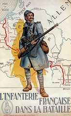 Vintage Ads Art - The French Infantry in the Battle by H Delaspre