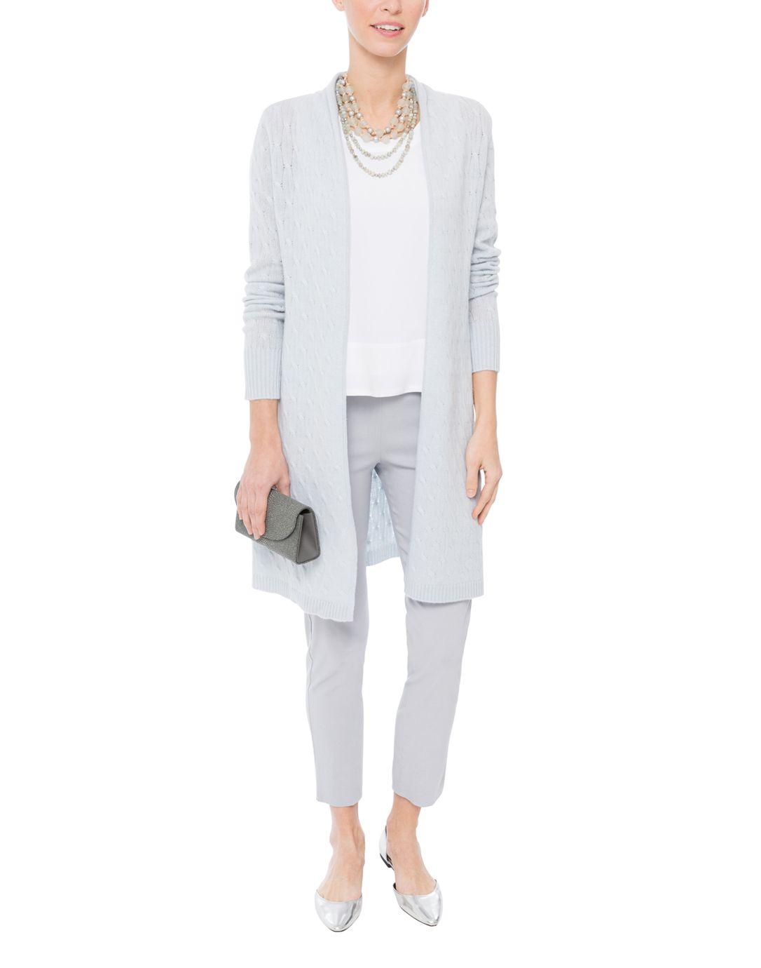 Sophie Pale Blue Cable Knit Cashmere Cardigan | Cashmere, Cable ...